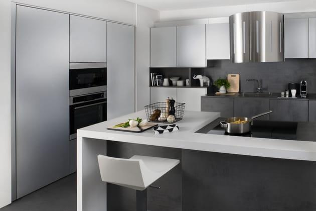 cuisine silvia metallic de darty. Black Bedroom Furniture Sets. Home Design Ideas