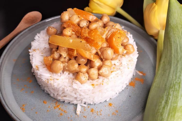 Curry de pois chiches et poivrons