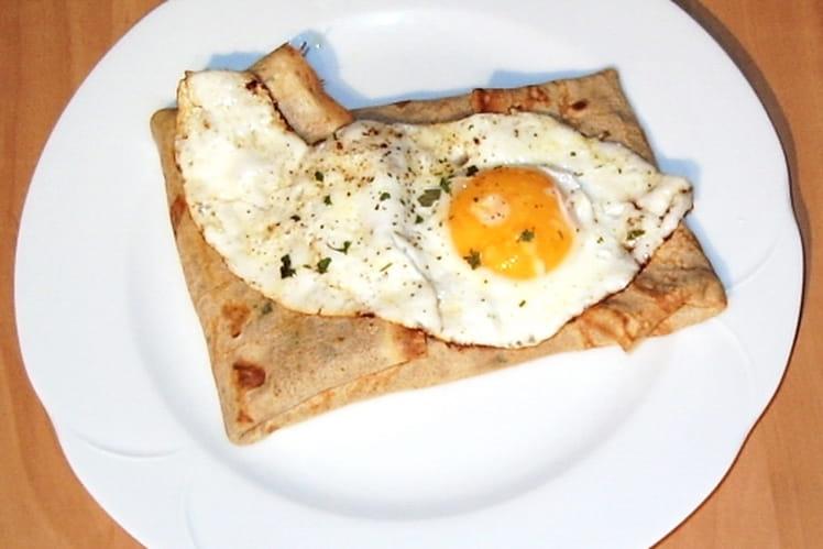Galettes sarrasin au jambon, œuf et fromage