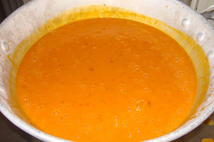 Soupe aux couleurs d'automne