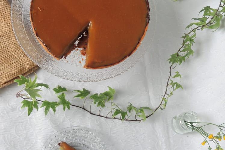 Tarte croustillante au chocolat caramel beurre salé