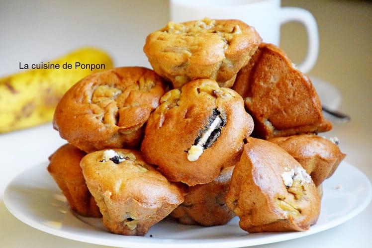 Muffin aux bananes et biscuit noir