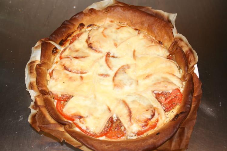 Tarte aux tomates et fromage à raclette