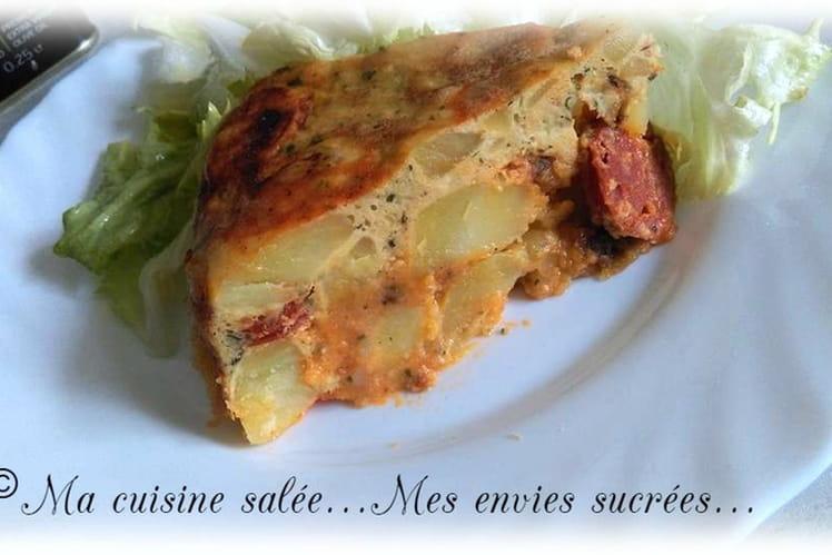 Tortilla de pommes de terre et chorizo au mutlicuiseur