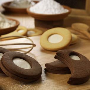 sablés chocolat fourrés au kiri ®