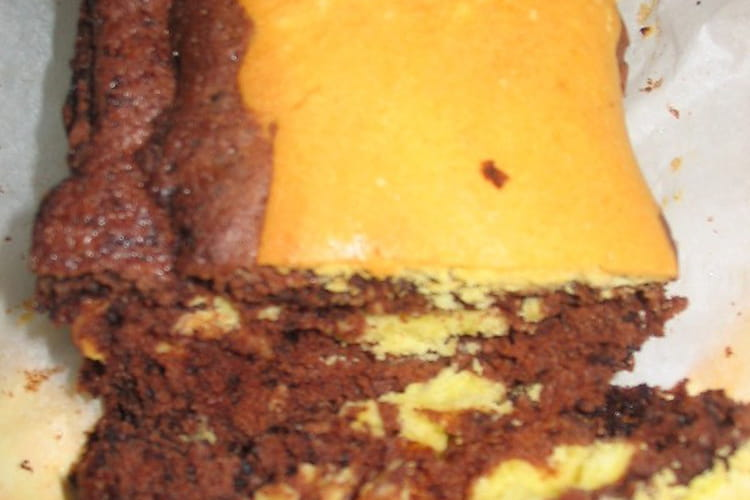 Gâteau marbré facile