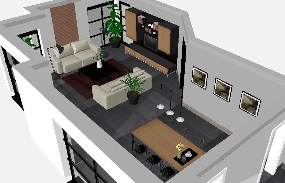 Une ambiance industrielle proposition n 2 for Disposition des meubles dans un salon