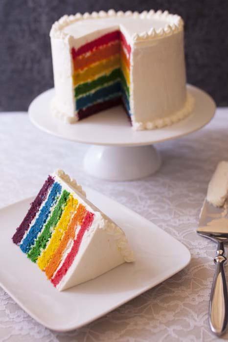 le rainbow cake. Black Bedroom Furniture Sets. Home Design Ideas