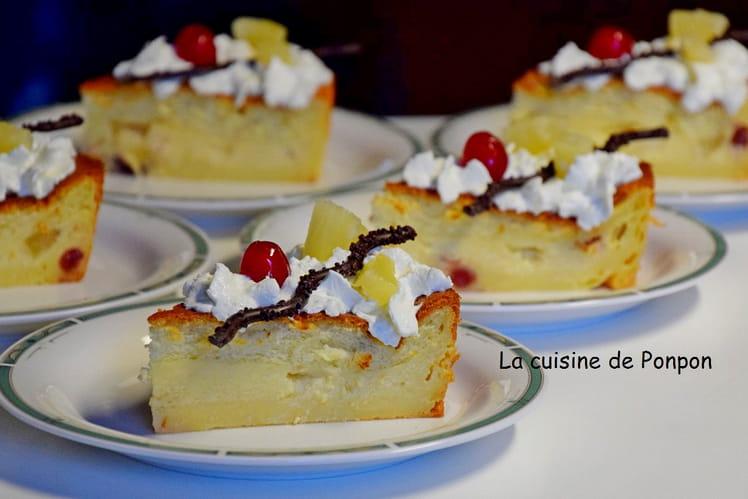 Gâteau magique à l'ananas et aux griottines