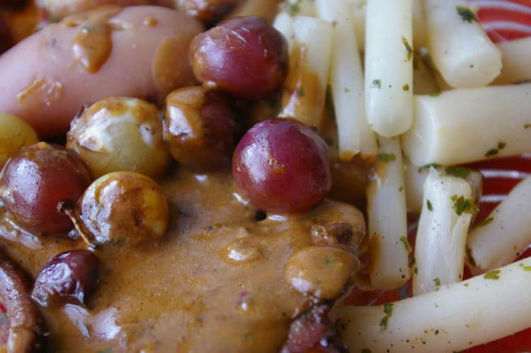 Recette de foie de veau aux raisins la recette facile - Cuisiner le foie de veau ...