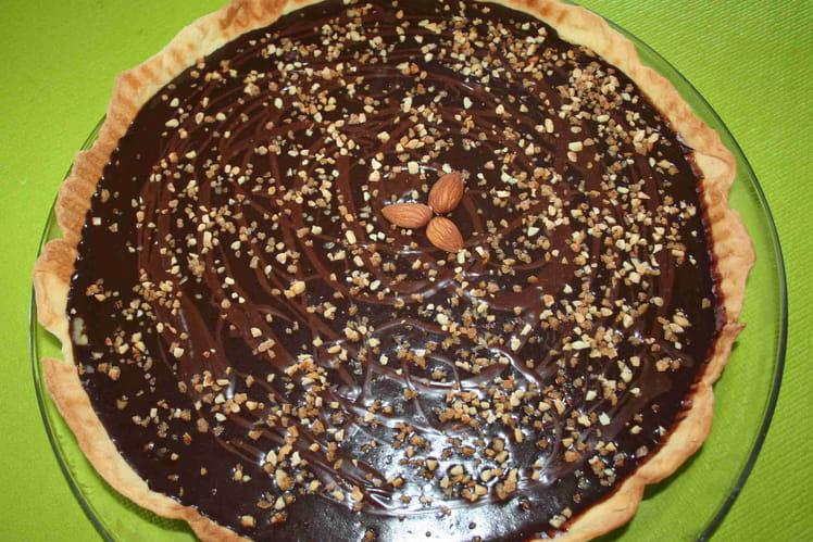 Tarte croustillante au chocolat