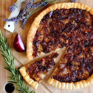 pizza façon tarte aux oignons rouges et miel