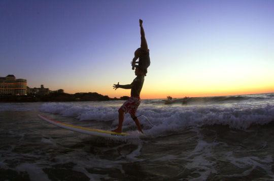 Démonstration de surf tandem