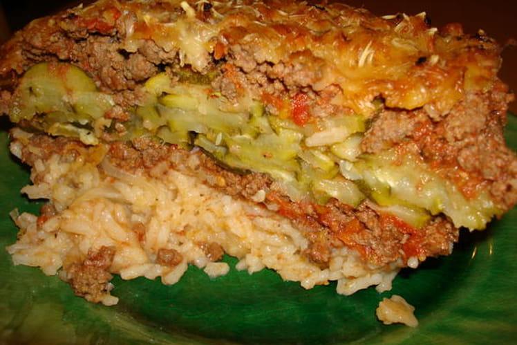 Hachis parmentier revisité au riz, bœuf et courgettes