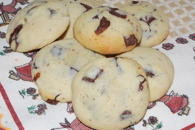 Cookies à la fleur d'oranger, pépites de chocolat