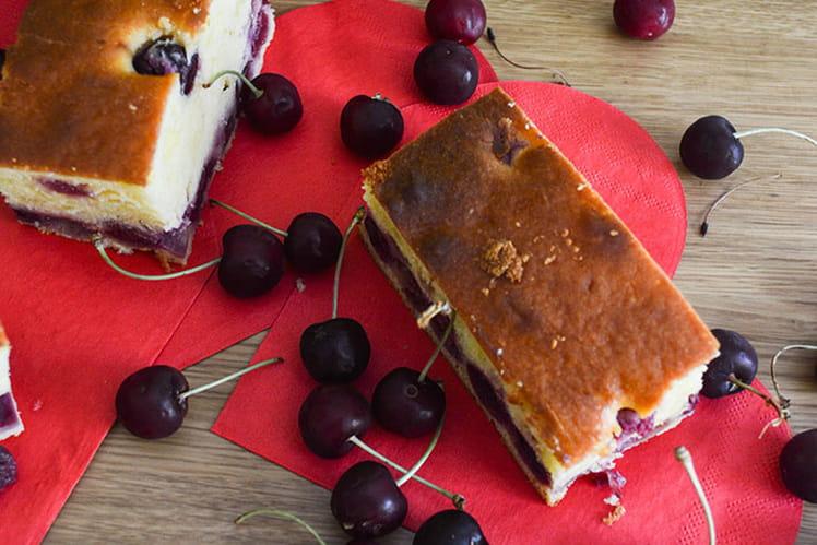 Gâteau philadephia et cerises