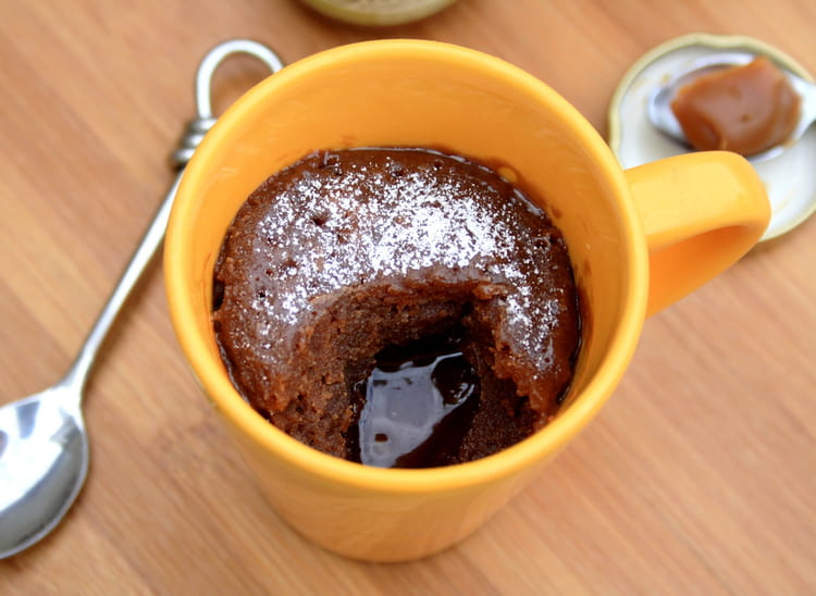 Recette De Mugcake Au Chocolat Coeur Coulant Au Caramel Beurre Sale