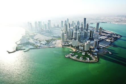 Vue du ciel sur Doha