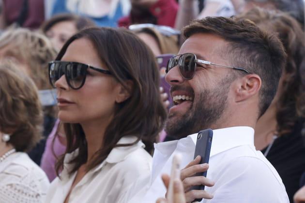 Victoria Beckham et Ricky Martin, admiratifs
