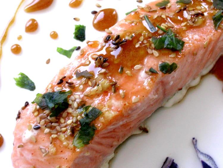 recette de pav 233 s de saumon caram 233 lis 233 s la recette facile