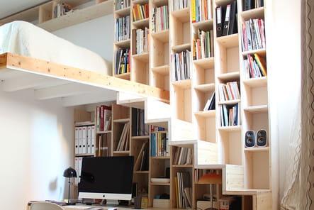 un bureau sous l 39 escalier. Black Bedroom Furniture Sets. Home Design Ideas