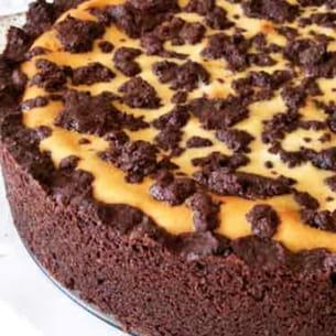 gâteau au chocolat et au fromage blanc