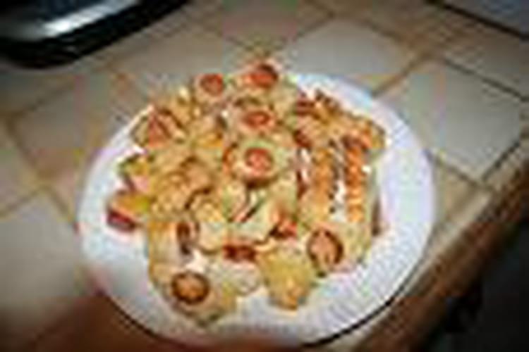Mini roulés aux saucisses