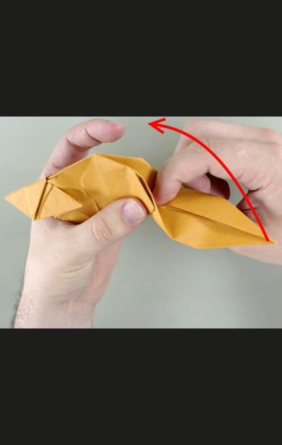 Origami chat - Etape 27