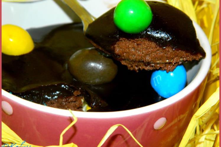 Chocolat en mousse, coque et ganache