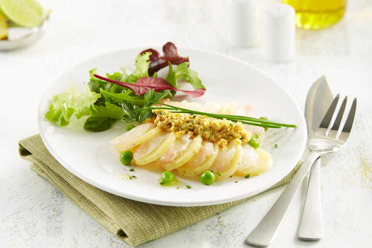 Carpaccio de Ratte du Touquet et dorade, sauce gribiche