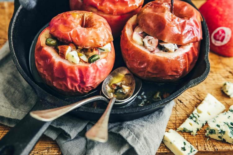 Pommes Pink Lady®, farcies aux fruits secs et fromage