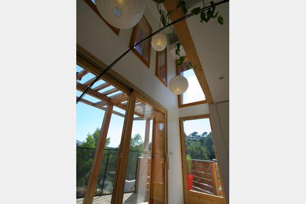 Maison en bois façon triplex