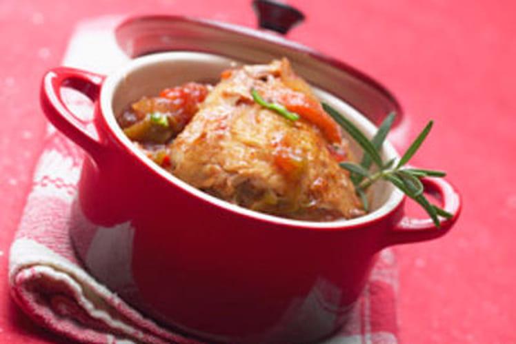 Cocotte de poulet basquaise au piment d'Espelette