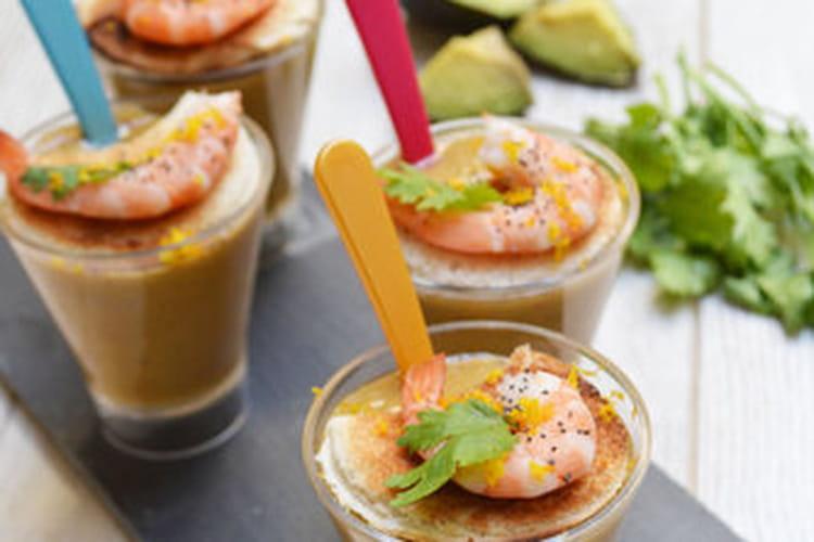 Gaspacho concombre, poivron et coriandre