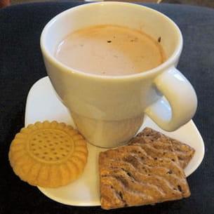 chocolat chaud au chocolat blanc