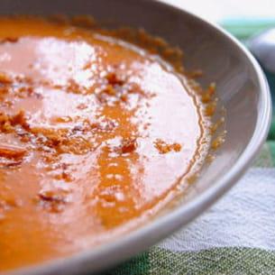 soupe courgette-carottes-tomates noires de crimée