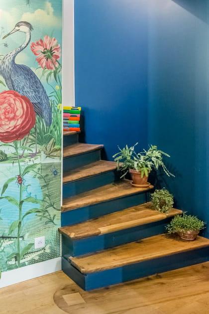 Colorer les contremarches dans l'escalier