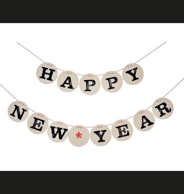 Guirlande Happy New Year sur Dawanda