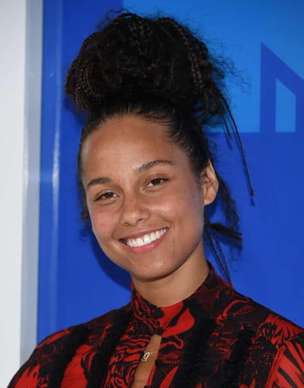 Le no-makeup d'Alicia Keys