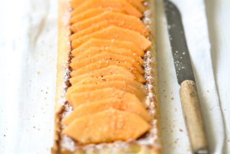 Tarte au melon du Quercy et crème de noisettes
