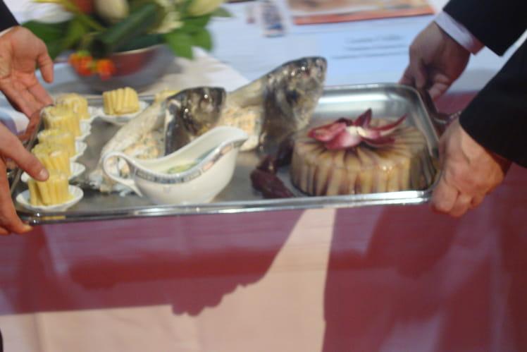 Daurade royale, mousseline de saumon-estragon