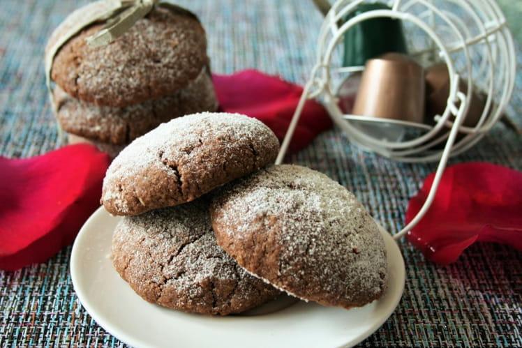 Cookies chocolat-café bio, sans gluten ni oeufs