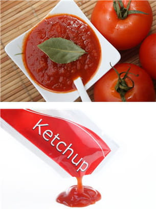 ketchup ou sauce tomate.