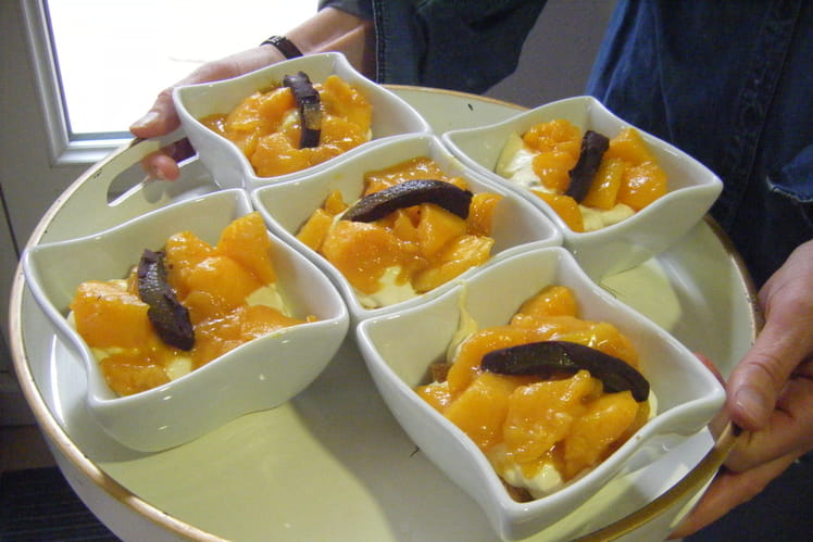 Dessert au mascarpone exotique