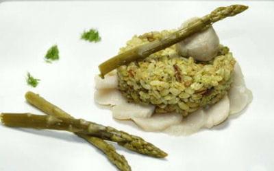 ebly poêlé persillade, saint-jacques et asperges