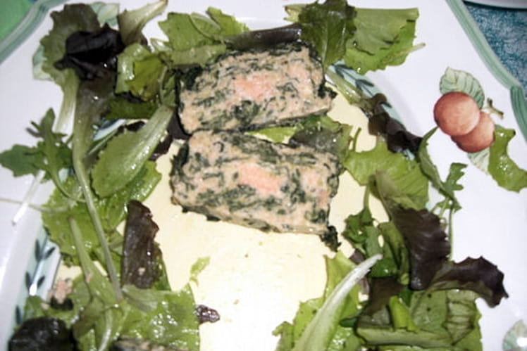 Terrine de saumon aux épinards
