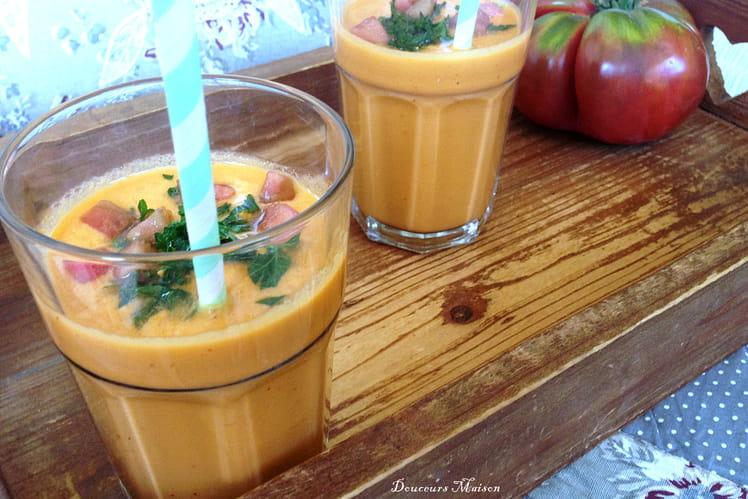 Recette de gaspacho tomates anciennes et p tisson ma - Cuisiner patisson blanc ...