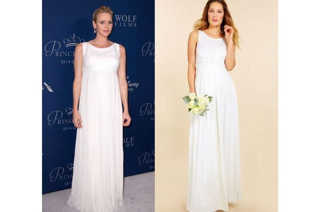 Charlene de Monaco : une robe blanche