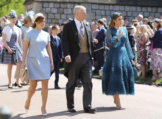 Le duc d'York et ses filles, les princesses Eugenie et Beatrice
