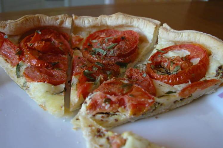 Tarte aux tomates et au cantal